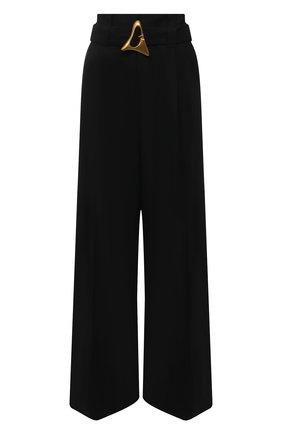 Женские брюки AERON черного цвета, арт. P172_365   Фото 1 (Материал внешний: Синтетический материал; Материал подклада: Синтетический материал; Длина (брюки, джинсы): Стандартные; Женское Кросс-КТ: Джоггеры - брюки; Силуэт Ж (брюки и джинсы): Широкие; Стили: Кэжуэл)