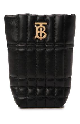 Женская сумка lola mini BURBERRY черного цвета, арт. 8045042 | Фото 1 (Ремень/цепочка: На ремешке; Размер: mini; Материал: Натуральная кожа; Сумки-технические: Сумки через плечо)