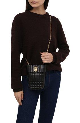Женская сумка lola mini BURBERRY черного цвета, арт. 8045042 | Фото 2 (Ремень/цепочка: На ремешке; Размер: mini; Материал: Натуральная кожа; Сумки-технические: Сумки через плечо)