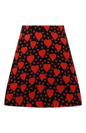 Женская юбка из вискозы SAINT LAURENT красного цвета, арт. 647997/Y3C91   Фото 1 (Материал подклада: Шелк; Материал внешний: Вискоза; Длина Ж (юбки, платья, шорты): Мини; Женское Кросс-КТ: Юбка-одежда; Стили: Романтичный)