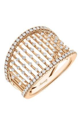 Женские кольцо MERCURY бесцветного цвета, арт. MR25458/RG/LG | Фото 1 (Драгоценные камни: Бриллианты; Материал сплава: Розовое золото)