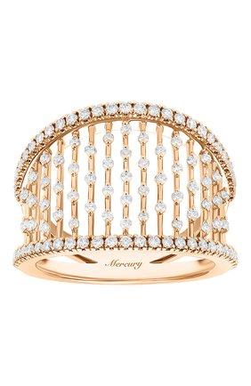 Женские кольцо MERCURY бесцветного цвета, арт. MR25458/RG/LG | Фото 2 (Драгоценные камни: Бриллианты; Материал сплава: Розовое золото)
