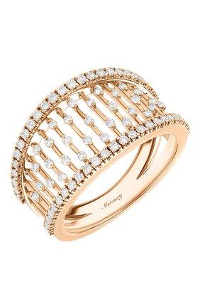 Женские кольцо MERCURY бесцветного цвета, арт. MR25458/RG/MD | Фото 1 (Драгоценные камни: Бриллианты; Материал сплава: Розовое золото)