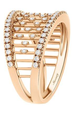 Женские кольцо MERCURY бесцветного цвета, арт. MR25458/RG/MD | Фото 2 (Драгоценные камни: Бриллианты; Материал сплава: Розовое золото)