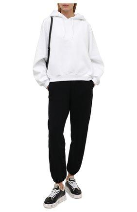 Женские кожаные кеды belle PREMIATA черного цвета, арт. BELLE/VAR5514   Фото 2 (Подошва: Платформа; Материал утеплителя: Натуральный мех)