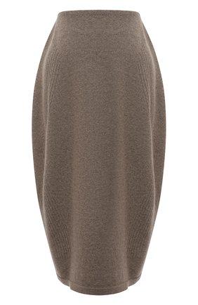 Женская юбка из шерсти и кашемира LOW CLASSIC бежевого цвета, арт. L0W21FW_KN05LK   Фото 1 (Материал внешний: Шерсть; Кросс-КТ: Трикотаж; Женское Кросс-КТ: Юбка-одежда; Длина Ж (юбки, платья, шорты): Миди; Стили: Кэжуэл)