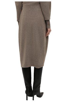 Женская юбка из шерсти и кашемира LOW CLASSIC бежевого цвета, арт. L0W21FW_KN05LK   Фото 4 (Материал внешний: Шерсть; Кросс-КТ: Трикотаж; Женское Кросс-КТ: Юбка-одежда; Длина Ж (юбки, платья, шорты): Миди; Стили: Кэжуэл)