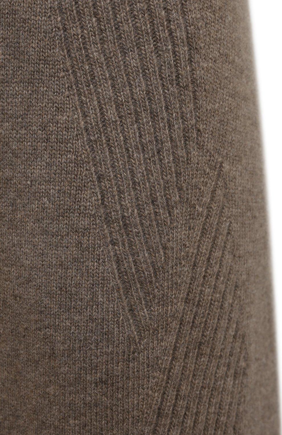 Женская юбка из шерсти и кашемира LOW CLASSIC бежевого цвета, арт. L0W21FW_KN05LK   Фото 5 (Материал внешний: Шерсть; Кросс-КТ: Трикотаж; Женское Кросс-КТ: Юбка-одежда; Длина Ж (юбки, платья, шорты): Миди; Стили: Кэжуэл)