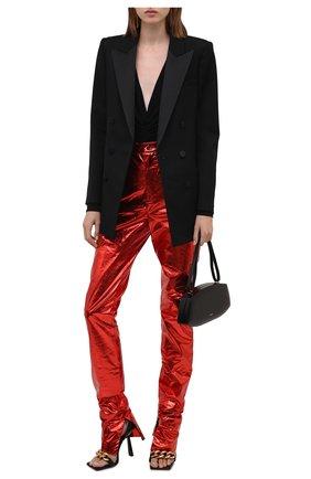 Женские брюки DOLCE & GABBANA красного цвета, арт. FTB9DT/GDAD3 | Фото 2 (Длина (брюки, джинсы): Удлиненные; Материал внешний: Синтетический материал; Женское Кросс-КТ: Брюки-одежда; Силуэт Ж (брюки и джинсы): Прямые; Стили: Гламурный)