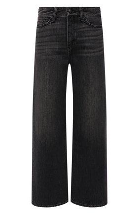 Женские джинсы RAG&BONE темно-серого цвета, арт. WDD21F2786BE0N   Фото 1 (Материал внешний: Хлопок, Лиоцелл; Длина (брюки, джинсы): Стандартные; Кросс-КТ: Деним; Детали: Потертости; Силуэт Ж (брюки и джинсы): Широкие; Стили: Гранж)