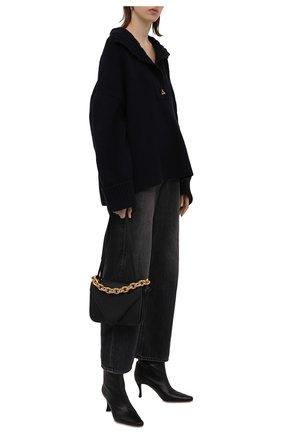 Женские джинсы RAG&BONE темно-серого цвета, арт. WDD21F2786BE0N   Фото 2 (Материал внешний: Хлопок, Лиоцелл; Длина (брюки, джинсы): Стандартные; Кросс-КТ: Деним; Детали: Потертости; Силуэт Ж (брюки и джинсы): Широкие; Стили: Гранж)