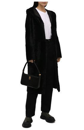 Женские кожаные ботинки tread slick ALEXANDER MCQUEEN хаки цвета, арт. 635714/WHZ61 | Фото 2 (Материал внутренний: Натуральная кожа; Женское Кросс-КТ: Челси-ботинки; Каблук высота: Низкий; Подошва: Платформа)