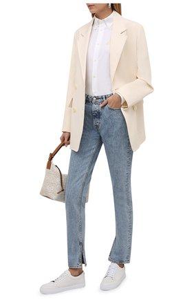 Женская хлопковая рубашка POLO RALPH LAUREN белого цвета, арт. 211846878 | Фото 2 (Длина (для топов): Удлиненные; Рукава: Длинные; Материал внешний: Хлопок; Женское Кросс-КТ: Рубашка-одежда; Принт: Без принта; Стили: Кэжуэл)