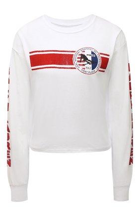 Женский хлопковый пуловер POLO RALPH LAUREN белого цвета, арт. 211846887 | Фото 1 (Длина (для топов): Стандартные; Рукава: Длинные; Материал внешний: Хлопок; Женское Кросс-КТ: Пуловер-одежда; Стили: Спорт-шик)