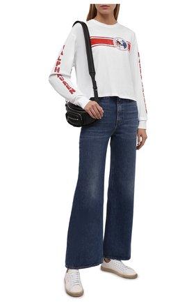 Женский хлопковый пуловер POLO RALPH LAUREN белого цвета, арт. 211846887 | Фото 2 (Длина (для топов): Стандартные; Рукава: Длинные; Материал внешний: Хлопок; Женское Кросс-КТ: Пуловер-одежда; Стили: Спорт-шик)