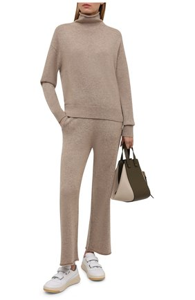 Женские кашемировые брюки POLO RALPH LAUREN бежевого цвета, арт. 211847039 | Фото 2 (Материал внешний: Шерсть, Кашемир; Длина (брюки, джинсы): Стандартные; Женское Кросс-КТ: Брюки-одежда; Силуэт Ж (брюки и джинсы): Прямые; Стили: Кэжуэл)