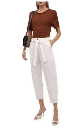 Женские хлопковые брюки POLO RALPH LAUREN кремвого цвета, арт. 211847145 | Фото 2 (Материал внешний: Хлопок; Длина (брюки, джинсы): Укороченные; Женское Кросс-КТ: Брюки-одежда; Силуэт Ж (брюки и джинсы): Джоггеры; Стили: Кэжуэл)