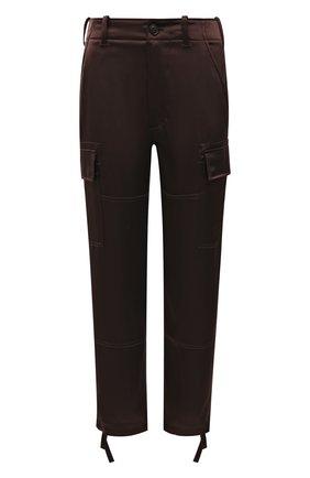 Женские брюки POLO RALPH LAUREN коричневого цвета, арт. 211850751 | Фото 1 (Материал внешний: Синтетический материал; Длина (брюки, джинсы): Стандартные, Укороченные; Женское Кросс-КТ: Брюки-одежда; Силуэт Ж (брюки и джинсы): Прямые; Стили: Гламурный)