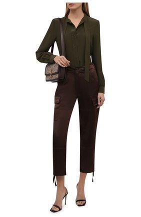Женские брюки POLO RALPH LAUREN коричневого цвета, арт. 211850751 | Фото 2 (Материал внешний: Синтетический материал; Длина (брюки, джинсы): Стандартные, Укороченные; Женское Кросс-КТ: Брюки-одежда; Силуэт Ж (брюки и джинсы): Прямые; Стили: Гламурный)