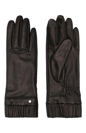 Женские кожаные перчатки BOSS черного цвета, арт. 50458018   Фото 2