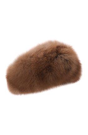 Женская повязка из меха соболя KUSSENKOVV коричневого цвета, арт. 163600005016   Фото 1 (Материал: Натуральный мех)