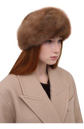 Женская повязка из меха соболя KUSSENKOVV коричневого цвета, арт. 163600005016   Фото 2 (Материал: Натуральный мех)
