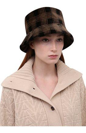 Женская шляпа из меха норки KUSSENKOVV коричневого цвета, арт. 150110003043   Фото 2 (Материал: Натуральный мех)