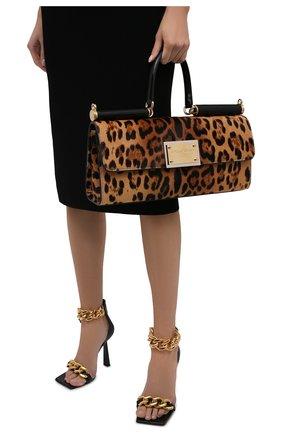 Женская сумка sicily DOLCE & GABBANA леопардового цвета, арт. BB7007/AQ291 | Фото 2 (Размер: large; Материал: Натуральная кожа; Сумки-технические: Сумки top-handle)