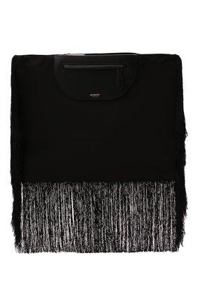 Женский клатч olympia BURBERRY черного цвета, арт. 8047203 | Фото 1 (Размер: large; Материал: Текстиль; Женское Кросс-КТ: Клатч-клатчи)