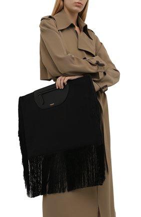 Женский клатч olympia BURBERRY черного цвета, арт. 8047203 | Фото 2 (Размер: large; Материал: Текстиль; Женское Кросс-КТ: Клатч-клатчи)