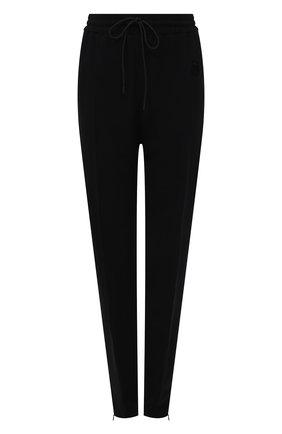 Женские брюки из вискозы BURBERRY черного цвета, арт. 8044676 | Фото 1 (Материал внешний: Вискоза; Длина (брюки, джинсы): Стандартные; Стили: Кэжуэл; Женское Кросс-КТ: Брюки-одежда; Силуэт Ж (брюки и джинсы): Узкие)