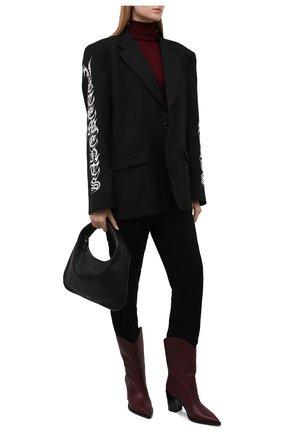 Женские брюки из вискозы BURBERRY черного цвета, арт. 8044676 | Фото 2 (Материал внешний: Вискоза; Длина (брюки, джинсы): Стандартные; Стили: Кэжуэл; Женское Кросс-КТ: Брюки-одежда; Силуэт Ж (брюки и джинсы): Узкие)