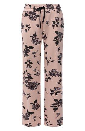 Женские хлопковые брюки REDVALENTINO светло-розового цвета, арт. WR0MD02C/67V   Фото 1 (Материал внешний: Хлопок; Длина (брюки, джинсы): Стандартные; Стили: Спорт-шик; Женское Кросс-КТ: Брюки-одежда; Силуэт Ж (брюки и джинсы): Прямые)