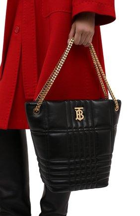 Женская сумка lola medium BURBERRY черного цвета, арт. 8046237 | Фото 2 (Материал: Натуральная кожа; Размер: medium; Сумки-технические: Сумки top-handle)