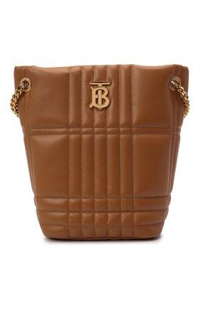 Женская сумка lola small BURBERRY коричневого цвета, арт. 8046255 | Фото 1 (Материал: Натуральная кожа; Сумки-технические: Сумки top-handle; Размер: small)