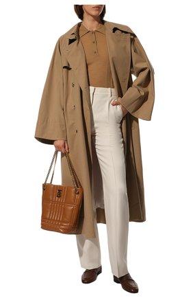 Женская сумка lola small BURBERRY коричневого цвета, арт. 8046255 | Фото 2 (Материал: Натуральная кожа; Сумки-технические: Сумки top-handle; Размер: small)