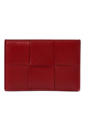 Женский кожаный футляр для кредитных карт BOTTEGA VENETA красного цвета, арт. 651401/VCQC4   Фото 1