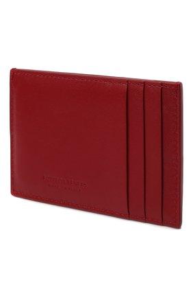 Женский кожаный футляр для кредитных карт BOTTEGA VENETA красного цвета, арт. 651401/VCQC4   Фото 2