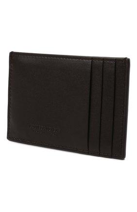 Женский кожаный футляр для кредитных карт BOTTEGA VENETA коричневого цвета, арт. 651401/VCQC4   Фото 2