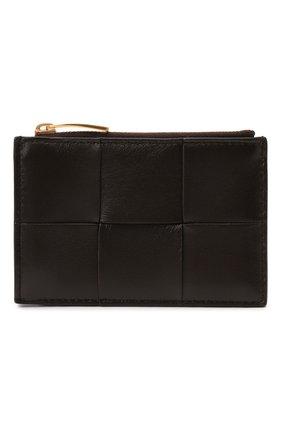 Женский кожаный футляр для кредитных карт BOTTEGA VENETA коричневого цвета, арт. 651393/VCQC4   Фото 1