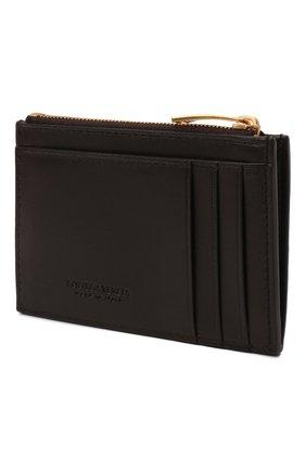 Женский кожаный футляр для кредитных карт BOTTEGA VENETA коричневого цвета, арт. 651393/VCQC4   Фото 2