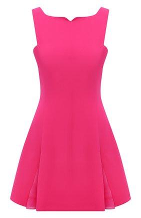 Женское шелковое платье VERSACE фуксия цвета, арт. 1002145/1A00701   Фото 1 (Длина Ж (юбки, платья, шорты): Мини; Материал внешний: Шелк; Материал подклада: Синтетический материал; Стили: Гламурный; Случай: Вечерний; Женское Кросс-КТ: Платье-одежда)