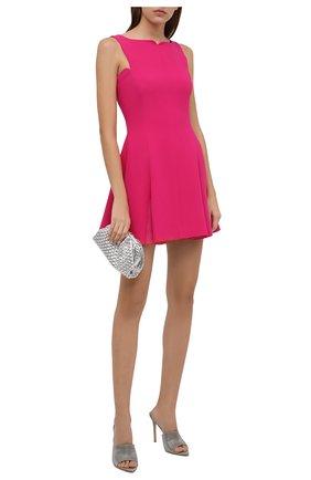 Женское шелковое платье VERSACE фуксия цвета, арт. 1002145/1A00701   Фото 2 (Длина Ж (юбки, платья, шорты): Мини; Материал внешний: Шелк; Материал подклада: Синтетический материал; Стили: Гламурный; Случай: Вечерний; Женское Кросс-КТ: Платье-одежда)