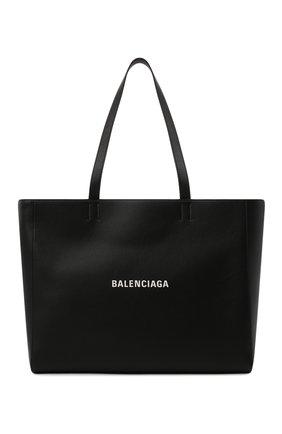 Женский сумка-тоут everyday east-west BALENCIAGA черного цвета, арт. 618284/DLQ4N | Фото 1 (Материал: Натуральная кожа; Размер: large; Сумки-технические: Сумки-шопперы)
