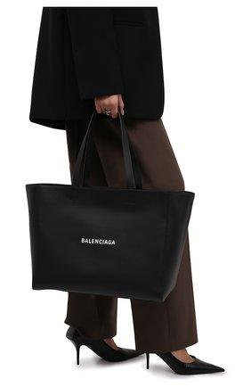Женский сумка-тоут everyday east-west BALENCIAGA черного цвета, арт. 618284/DLQ4N | Фото 2 (Материал: Натуральная кожа; Размер: large; Сумки-технические: Сумки-шопперы)