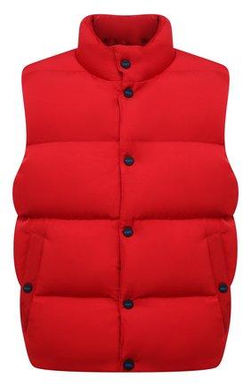 Мужской пуховый жилет KNT красного цвета, арт. UGKN012X0236A   Фото 1 (Материал внешний: Синтетический материал; Материал подклада: Синтетический материал; Длина (верхняя одежда): Короткие; Материал утеплителя: Пух и перо; Кросс-КТ: Куртка, Пуховик; Стили: Кэжуэл)