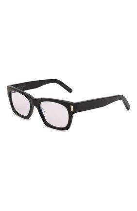 Женские солнцезащитные очки SAINT LAURENT черного цвета, арт. SL 402 013   Фото 1 (Тип очков: С/з; Очки форма: Прямоугольные)