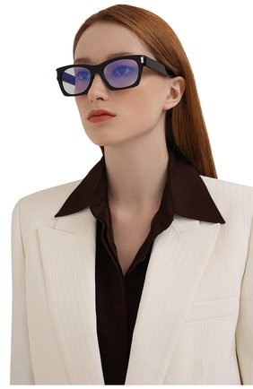 Женские солнцезащитные очки SAINT LAURENT черного цвета, арт. SL 402 013   Фото 2 (Тип очков: С/з; Очки форма: Прямоугольные)