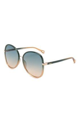 Женские солнцезащитные очки CHLOÉ разноцветного цвета, арт. CH0030S 006 | Фото 1 (Тип очков: С/з; Очки форма: Бабочка)