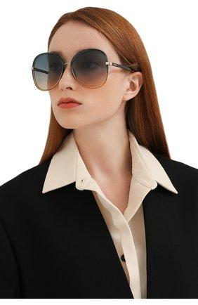 Женские солнцезащитные очки CHLOÉ разноцветного цвета, арт. CH0030S 006 | Фото 2 (Тип очков: С/з; Очки форма: Бабочка)